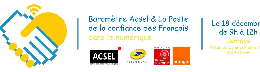 """Baromètre """"La confiance des Français dans le numérique"""""""
