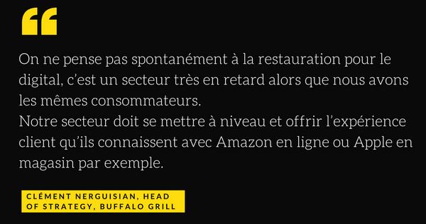Buffalo Grill UX ecommerce restauration