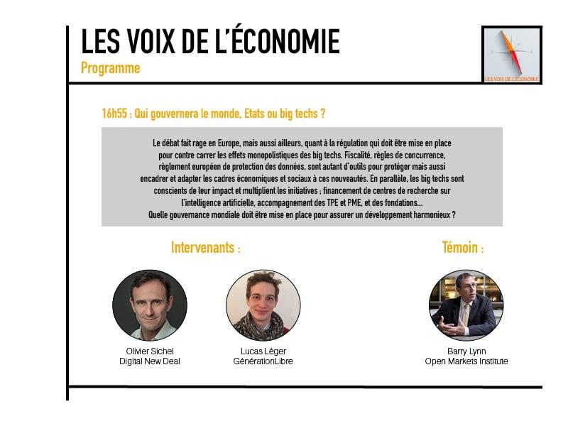 Les voix de l'économie Programme9