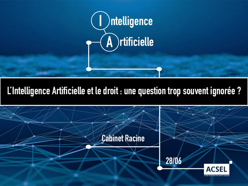 Intelligence artificielle : le droit comme garant de la confiance ?