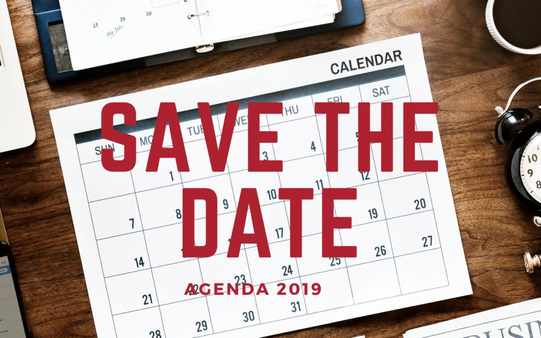 Save The Date : découvrez l'agenda 2019