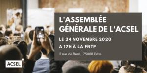 Assemblée générale ordinaire de l'Acsel 2020