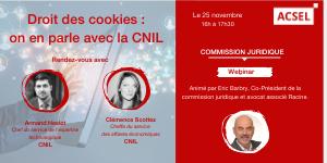 Droit des cookies : on en parle avec la CNIL [14/10]